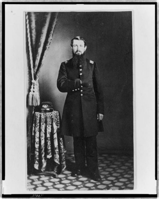 [Unidentified Union officer, full-length portrait with right hand in coat, facing front]