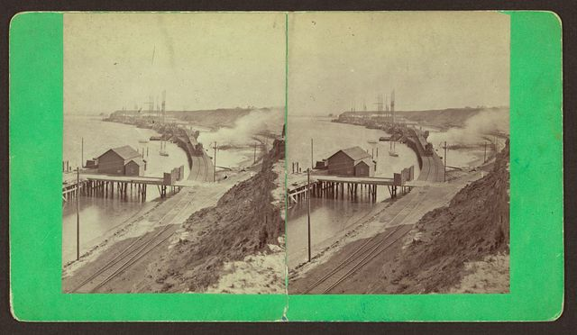 [Unidentified view of a harbor]