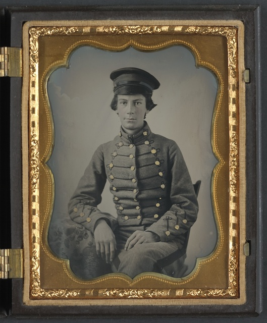 [Unidentified Virginia Military Institute cadet in uniform]