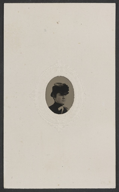 [Unidentified woman in hat] / C.C. Cook & Co., 916 Chestnut St., Phila., finished in ten minutes.