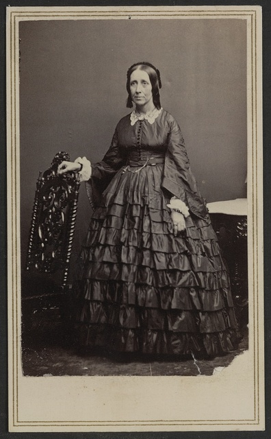 [Unidentified woman, possibly a nurse, during the Civil War] / Brady's National Photographic Galleries, No. 352 Pennsylvania Av., Washington, D.C. & Broadway & Tenth Street, New York.