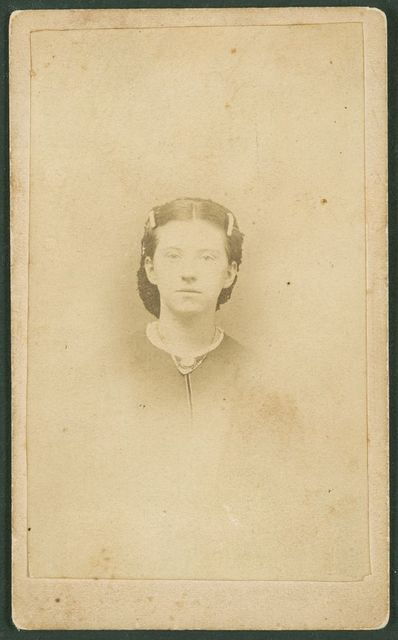[Unidentified young woman] / A. F. Hawes, Taunton, Mass.