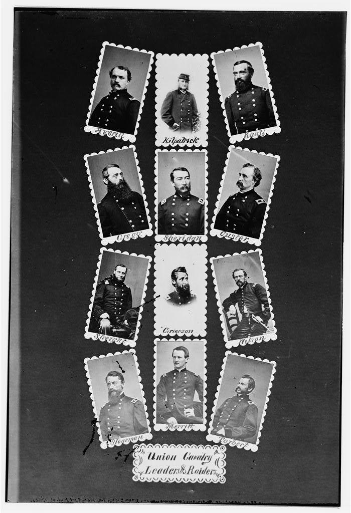 Union Cavalry leaders & raiders: Averill, Kilpatrick, Rauls, Gregg, Sheridan, Custer, Streight, Grierson, Wilson, Stoneman, Merritt, and Torbert