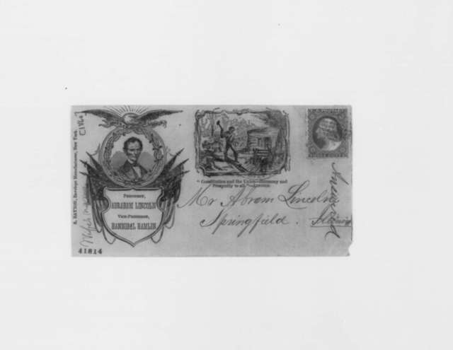 Unknown to Abraham Lincoln,  1860  (Envelope; endorsed by Lincoln)