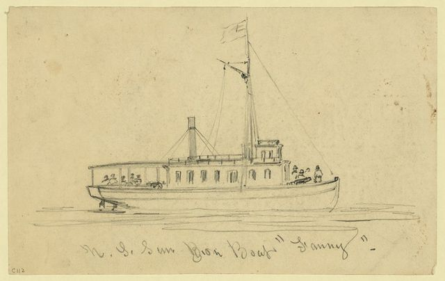 "U.S. Gun Boat ""Fanny"""
