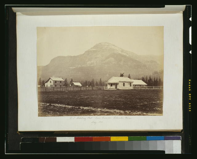 U.S. military post, lower Cascades, Columbia River, May 1860