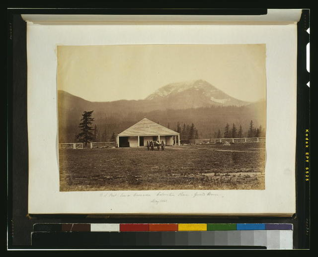 U.S. post, lower Cascades, Columbia River - guard house, May 1860