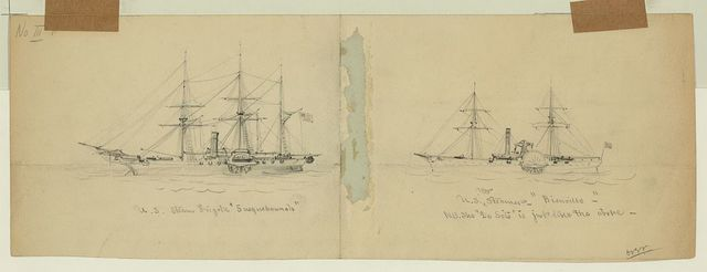 "U.S. Steam Frigate ""Susquehannah"" [and] U.S. War Steamer ""Bienville"""