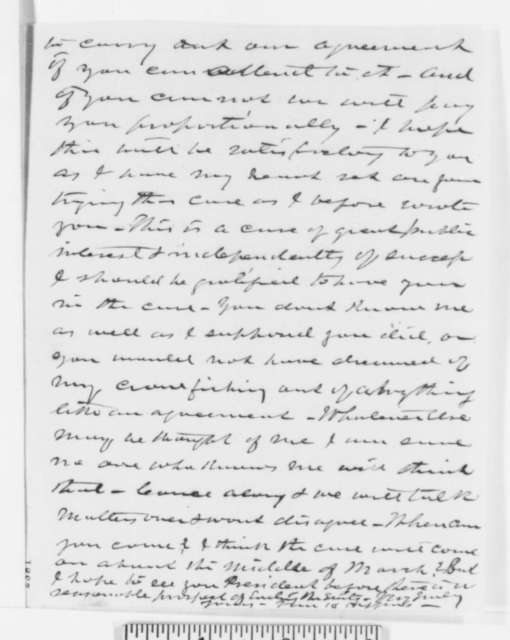 Van H. Higgins to Abraham Lincoln, Friday, February 17, 1860