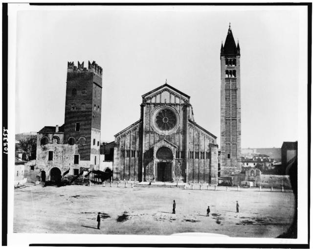 Verona. Church and campanile. St. Zenone