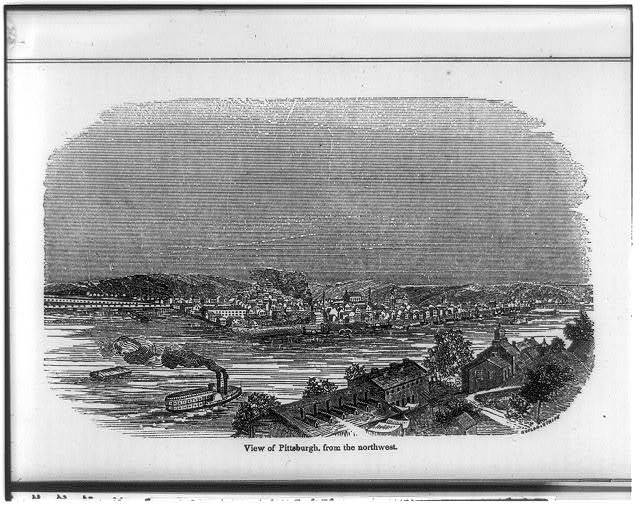 View of Pittsburg from the northwest