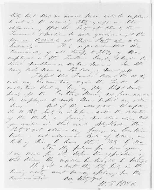 W. F. Weld to Abraham Lincoln, Friday, December 07, 1860  (Urges Lincoln to collect duties at all Southern ports regardless of circumstances)