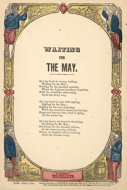 Waiting for the May. H. De Marsan, Publisher, 38 & 60 Chatham Street, N. Y