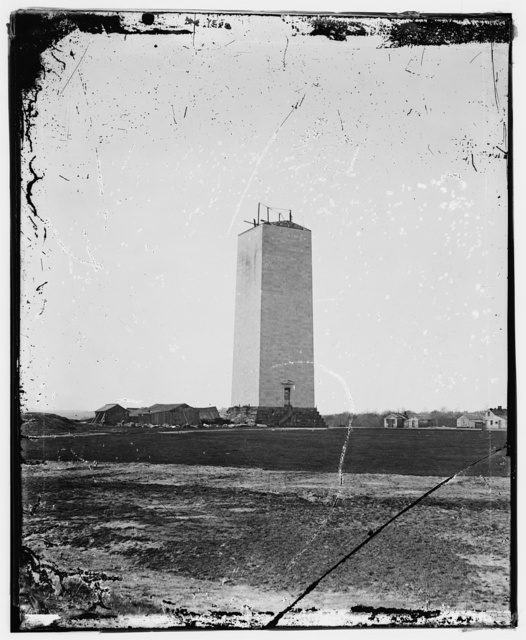 Washington Monument as it stood for 25 years.