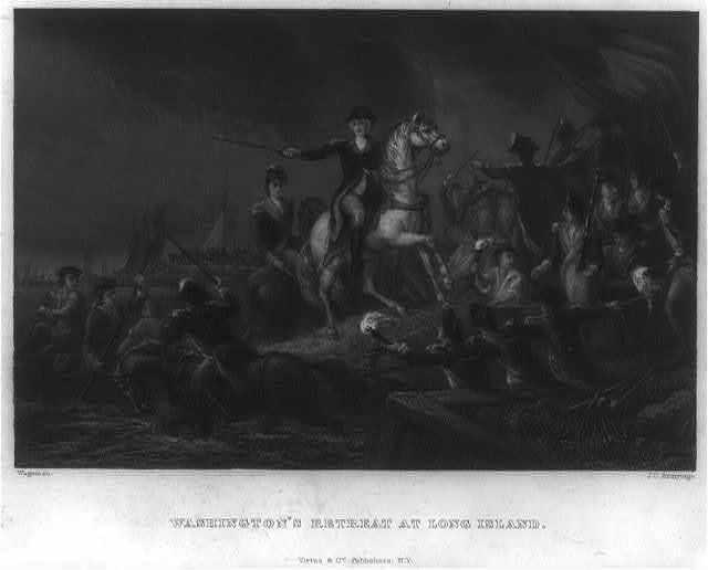 Washington's retreat at Long Island / Wageman ; J.C. Armytage.