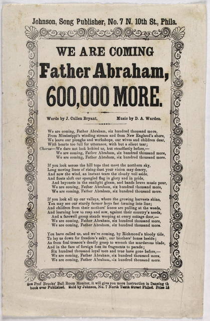 We are coming father Abraham, 6000,000 more.