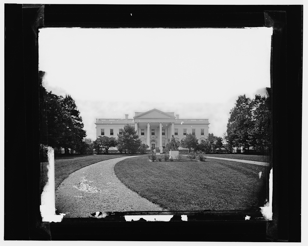 White House, earliest [sic] known view (made in 1860's)