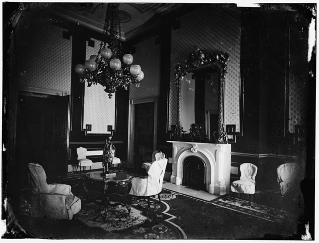 White House interior, Old Green Room (1st interior photo?) President's study