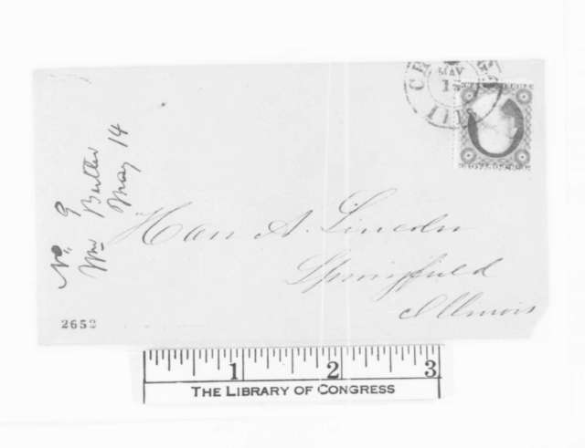 William Butler to Abraham Lincoln, Monday, May 14, 1860  (Chicago convention)