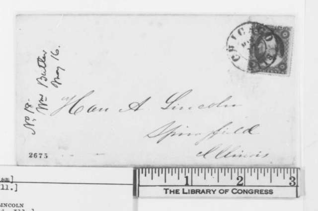 William Butler to Abraham Lincoln, Wednesday, May 16, 1860  (Chicago convention)