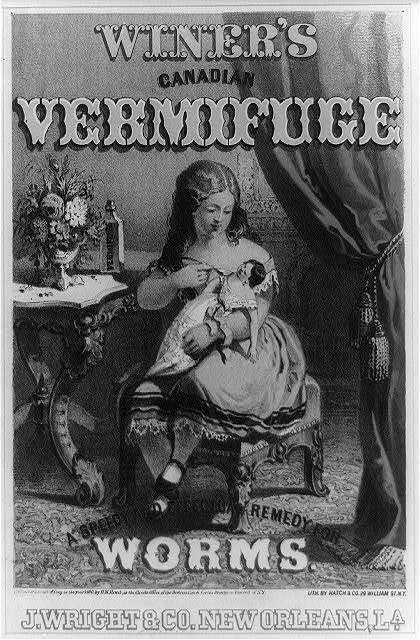 Winer's Canadian vermifuge a speedy and effective remedy for worms. J. Wright & Co. New Orleans, La.