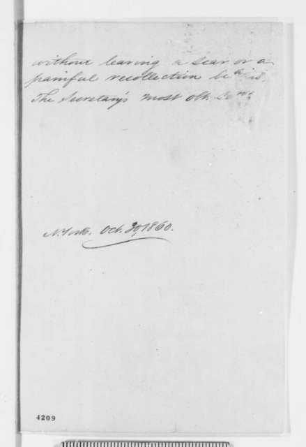 "Winfield Scott to John B. Floyd, Tuesday, October 30, 1860  (Continuation of his ""views suggested by the imminent danger"")"