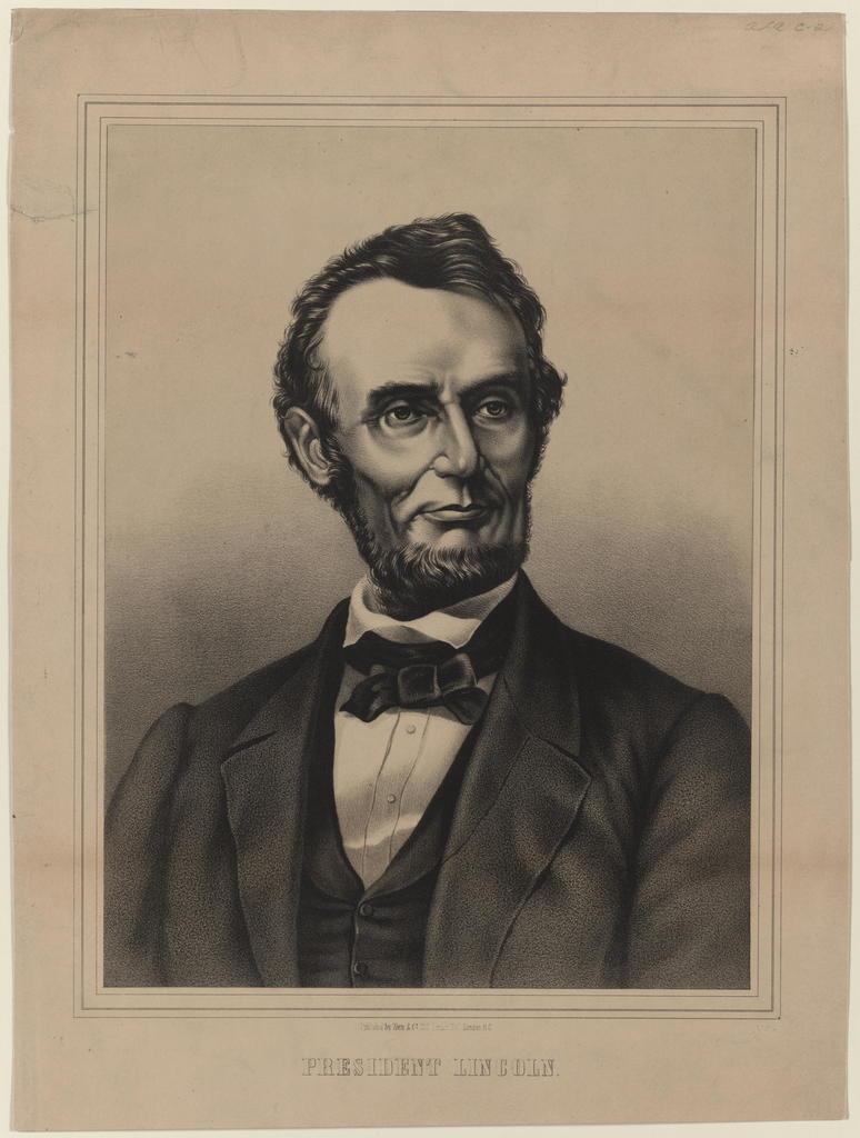 [Zorn & Co. portrait of President Lincoln]