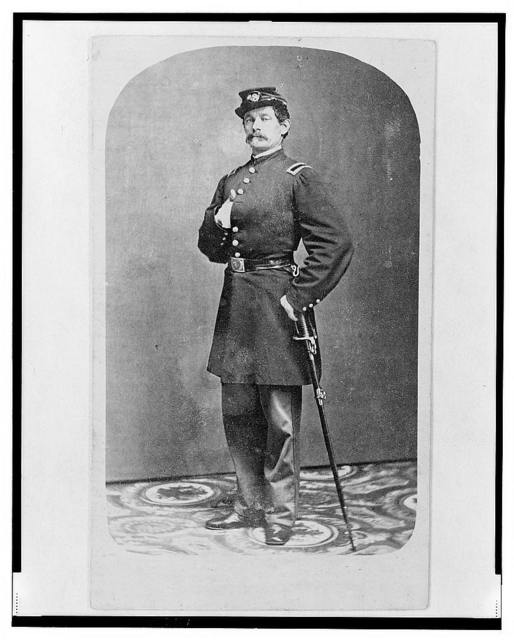 [1st Lieutenant August Bitter, Union officer in the 24th Illinois Regiment, full-length portrait, standing, facing front] / Wallis Bro., 117 Lake St., Chicago.