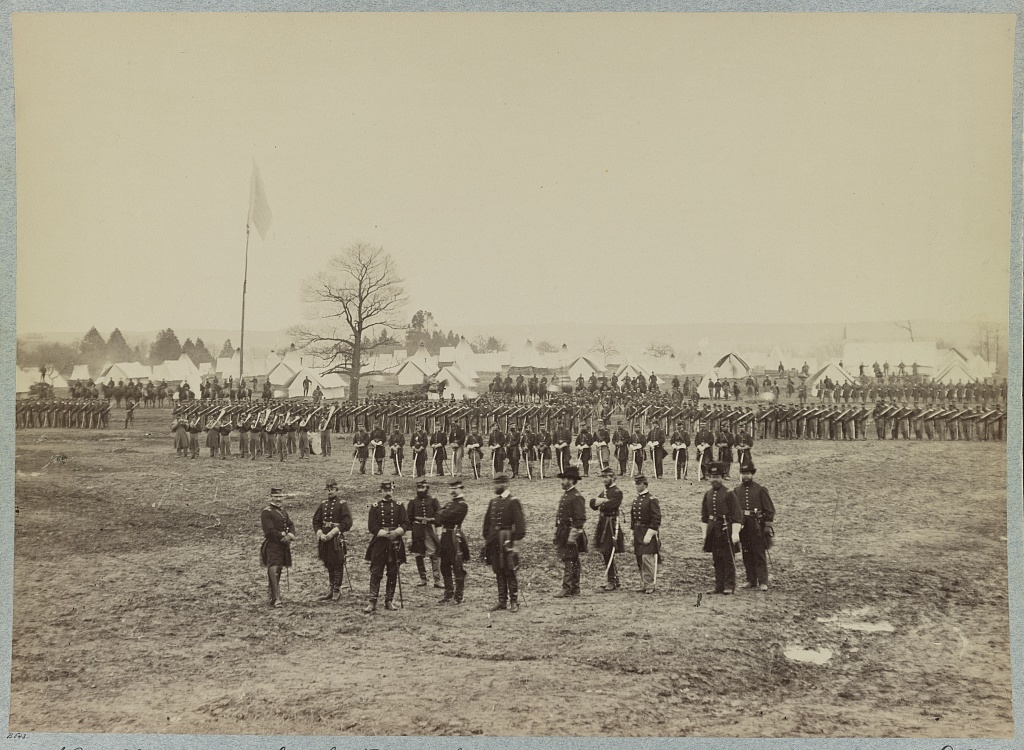 7th New York Cavalry-- Gen. I. N. Palmer & staff in foreground-- camp near Washington, D. C.