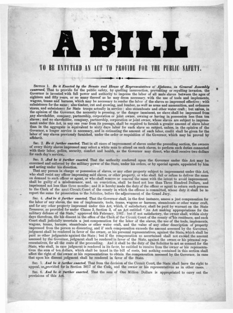 A bill to be entitled an act to provide for the public safety. [s. l.]