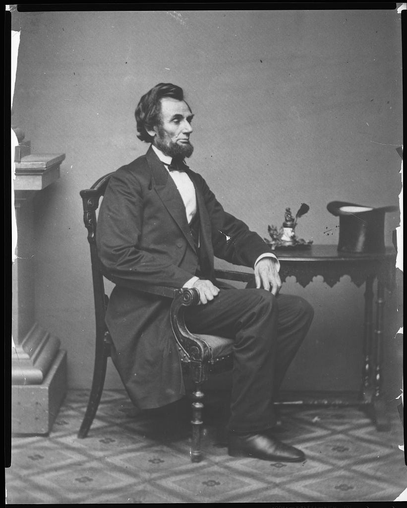 [Abraham Lincoln, full-length portrait, seated]