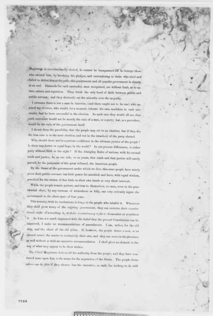 Abraham Lincoln, January-February 1861  (First Inaugural Address, First Printed Draft)