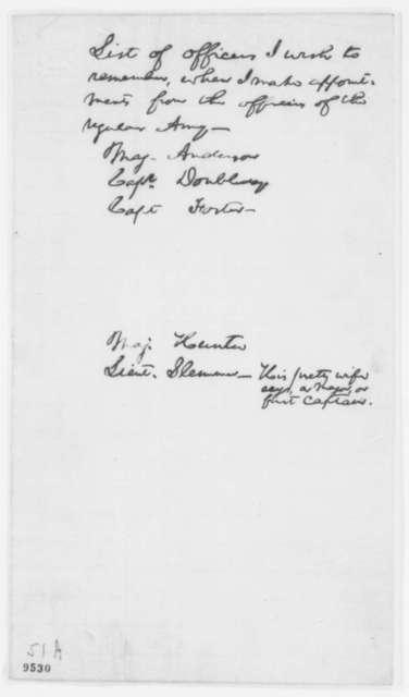 Abraham Lincoln, July 1861  (Memorandum on Army Promotions)