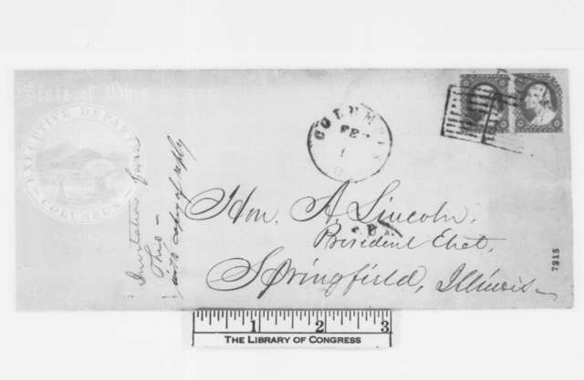 Abraham Lincoln to William Dennison, Thursday, February 07, 1861  (Reply to invitation)