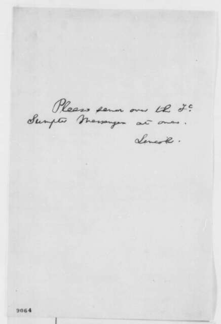 Abraham Lincoln to Winfield Scott, [April 14, 1861]  (Requests Fort Sumter messenger)