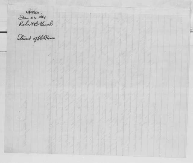Adelaide Smith to Mary Todd Lincoln, Thursday, January 24, 1861  (Recommendation for White House staff)