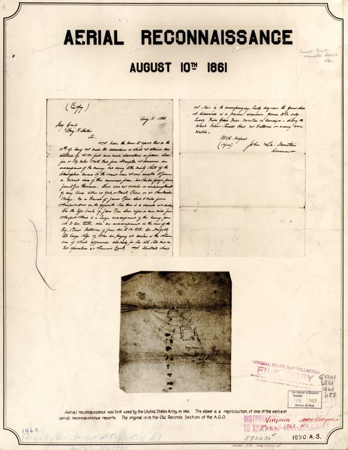 Aerial reconnaissance, August 10th, 1861 : [Sewells Point, Virginia] /