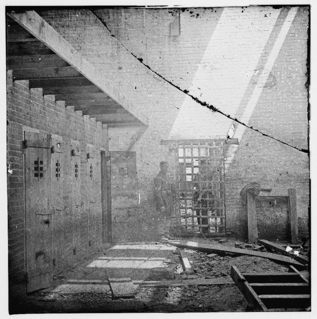 Alexandria, Virginia. Slave pen. Interior view