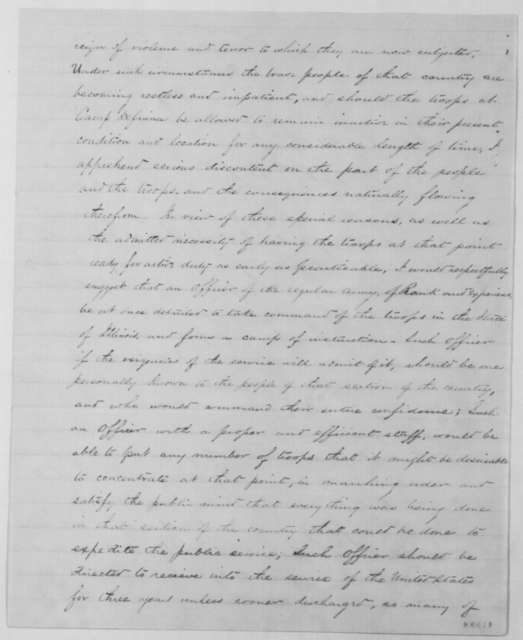 Amos Beckwith to Julian S. Rumsey, Sunday, May 26, 1861  (Military affairs)