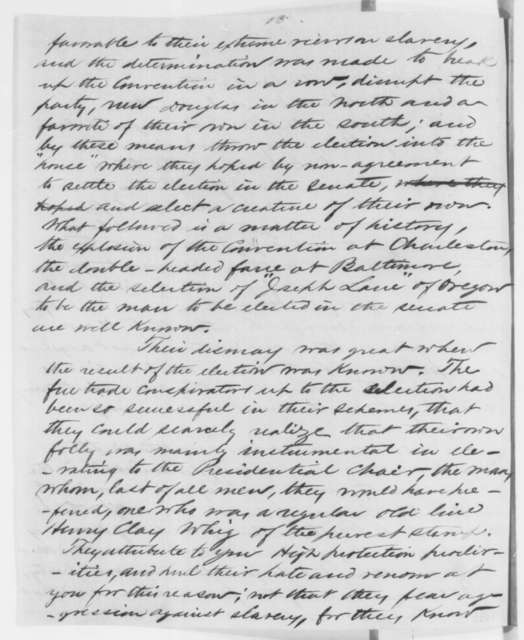 """Anonymous.  """"Buckeye"""" to Abraham Lincoln, Thursday, February 07, 1861  (Southern conspiracy)"""