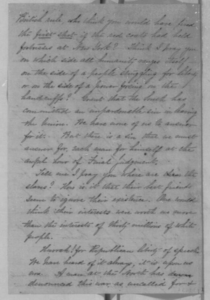 Anonymous to Abraham Lincoln,  1861  (Political advice)