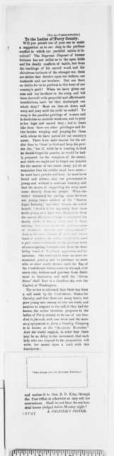 Anonymous to Perry County Alabama Ladies,  1861  (Clipping)