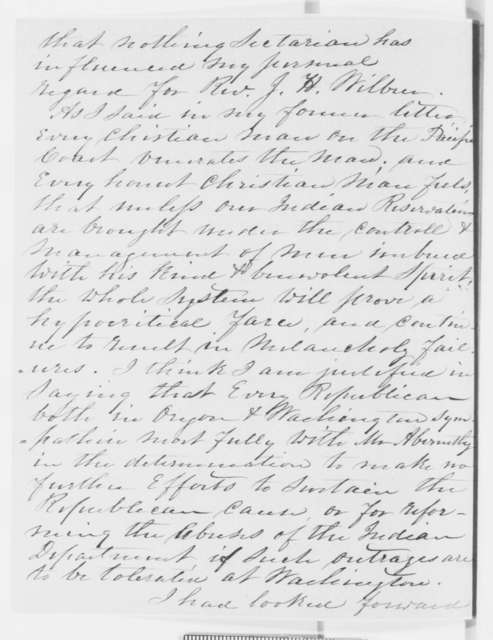 Anson G. Henry to William P. Dole, Monday, October 28, 1861  (Superintendent of Indian Affairs in Washington Territory)
