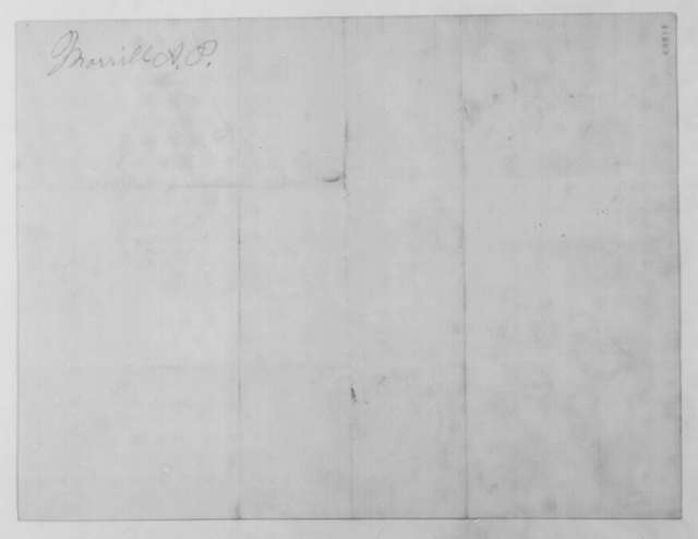 Anson P. Morrill to Montgomery Blair, Wednesday, March 20, 1861  (Postmaster at Bath, Maine; endorsed by Kasson)
