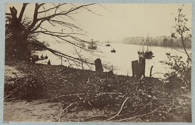 Army transports in James River, Va. near Deep Bottom