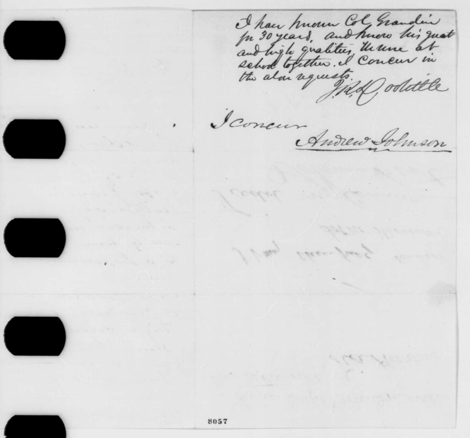 B. Hosmer, et al. to James M. Edmunds, Wednesday, March 13, 1861  (Petition of recommendation)