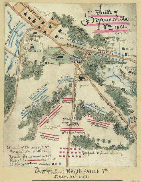 Battle at Dranesville, Va. Decr. 20th, 1861.