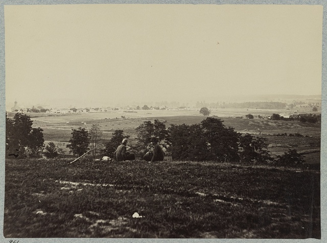 Battle-field of Gettysburg. Scene of the charge of the Louisiana Tigers