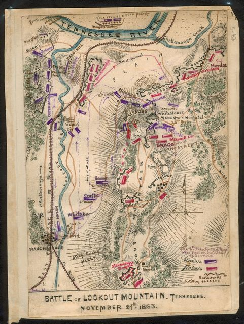 Battle of Lookout Mountain, Tennessee November 24th, 1863.