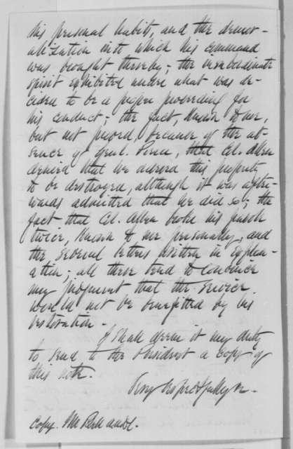 Benjamin F. Butler to Elijah Ward, Saturday, November 16, 1861  (Military affairs)